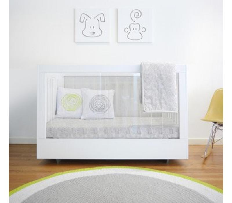 Spot On Square Roh Crib In White 1 Side Acrylic
