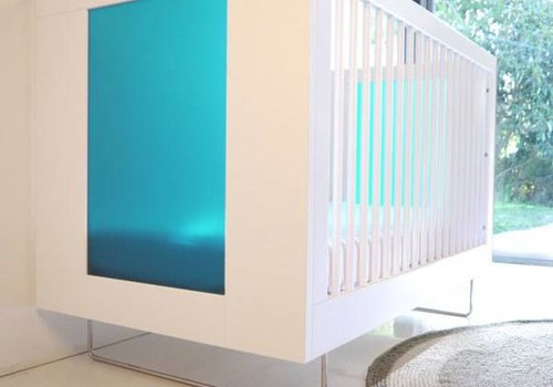 Spot On Square Spot On Square Alto Crib With Aqua Acrylic