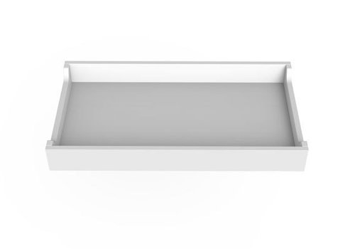 """Spot On Square Spot On Square 34"""" Wide Changing Tray-White"""