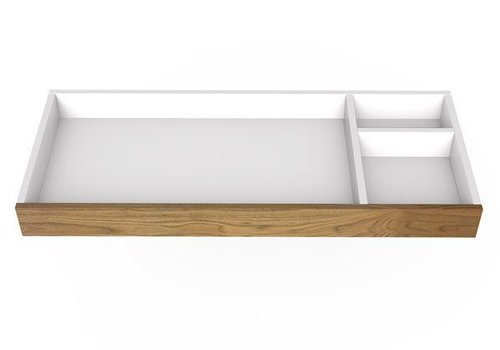 """Spot On Square Spot On Square 45"""" Wide Changing Tray - White/Walnut"""