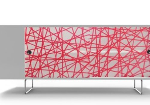 Spot On Square Spot On Square Alto Credenza With Red Strands