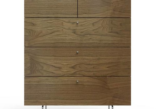 Spot On Square Spot On Square Alto 5 Drawer Dresser White - Walnut