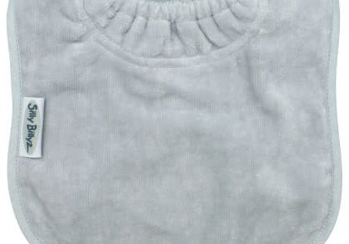 Silly Billyz SillY BillyZ Velour Plain Bib 3 Months - 3 Yrs In Light Gray