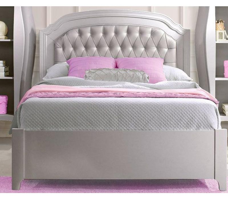Natart Alexa Double Bed With Low Profile Footboard And Rails Without Panel
