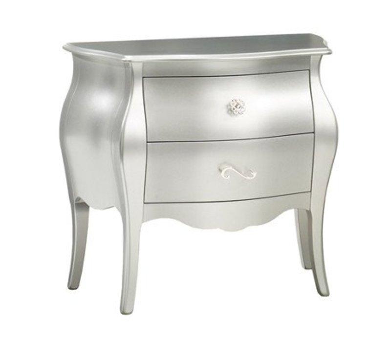 Natart Alexa Nightstand In Silver