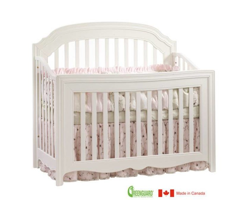 Natart Allegra 4 In 1 Convertible Crib to Double In French White