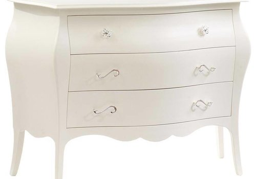 Natart Natart Allegra 3 Drawer Dresser In French White