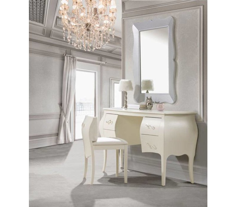 Natart Allegra Desk With Seating In French White
