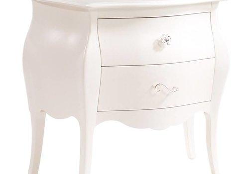 Natart Natart Allegra Nightstand In French White