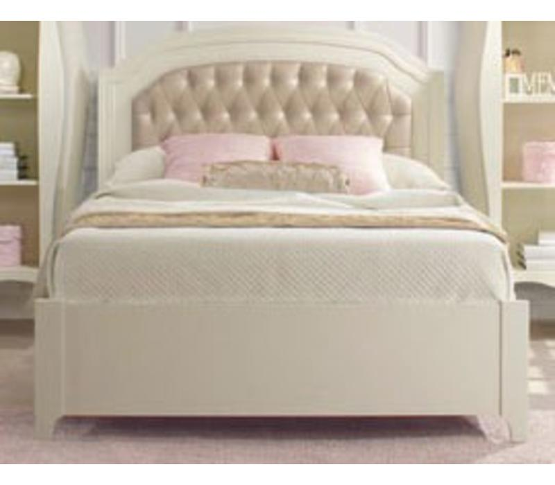 Natart Allegra Double Bed 54 Inches With Low Profile In French White