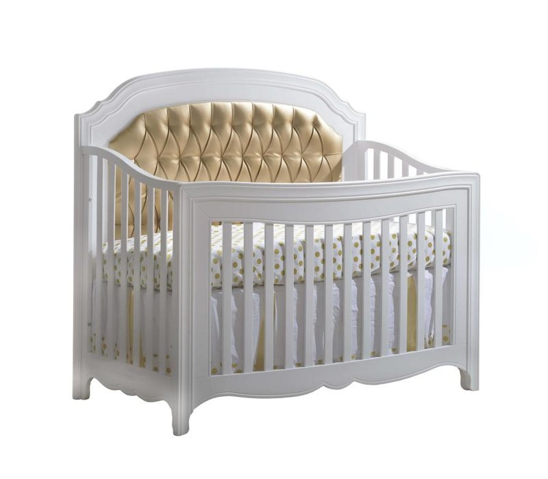 "Natart Allegra-Gold ""5-in-1""  Convertible Crib (w/out rails) With Gold Panel"