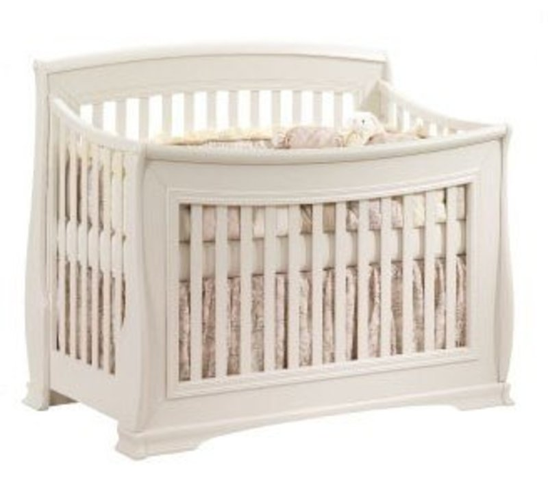 Natart Bella 4 In 1 Convertible Crib to Double In Linen