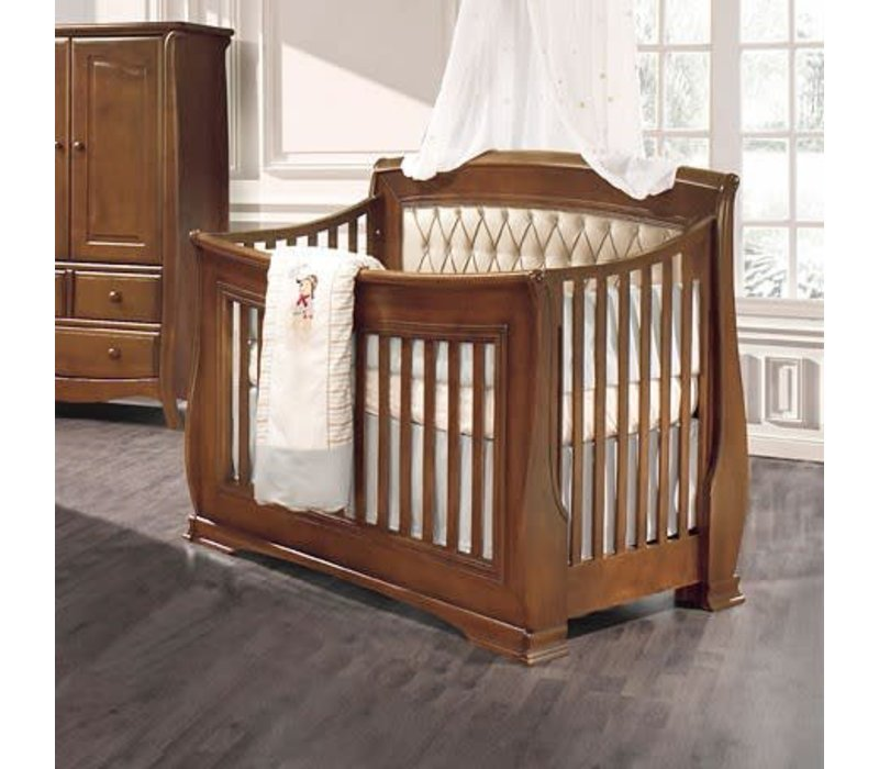Natart Bella 4 In 1 Convertible Crib to Double In Walnut