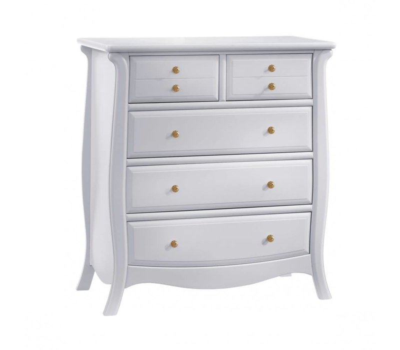Natart Bella Gold 5 Drawer Dresser