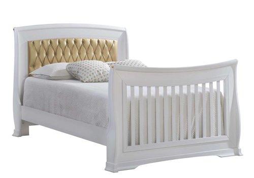 "Natart Natart Bella Gold Double Bed 54""  (w/rails)"