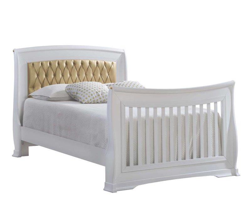 "Natart Bella Gold Double Bed 54""  (w/rails)"