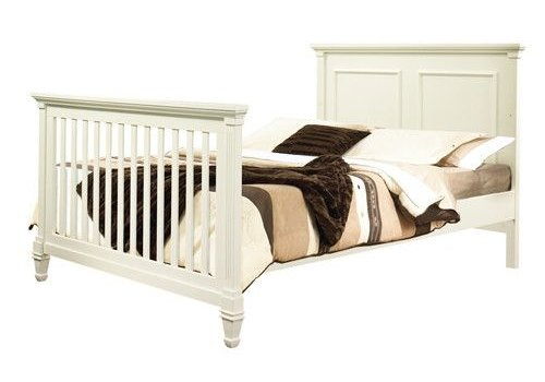 Natart Natart Belmont Double Bed With Low Profile Foot Board In French White