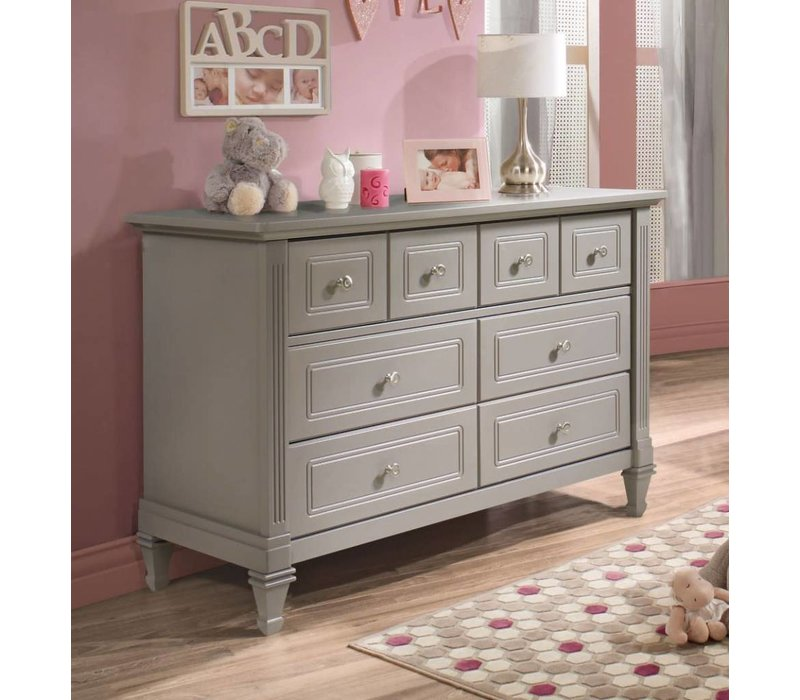 Natart Belmont Double Dresser In Stone Grey