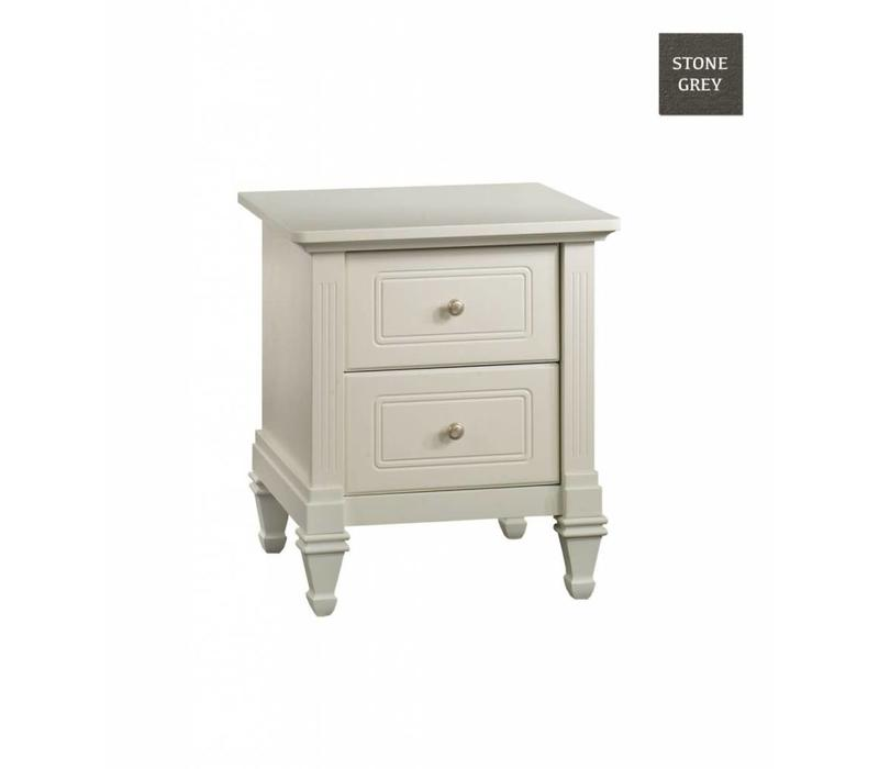 Natart Belmont Nightstand In Stone Grey