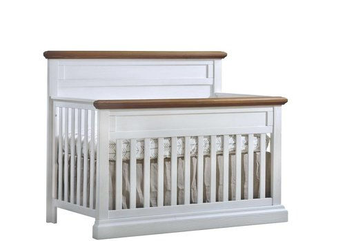 Natart Natart Cortina  4-in-1 Convertible Crib  (w/out rails) White Chalet-Cognac