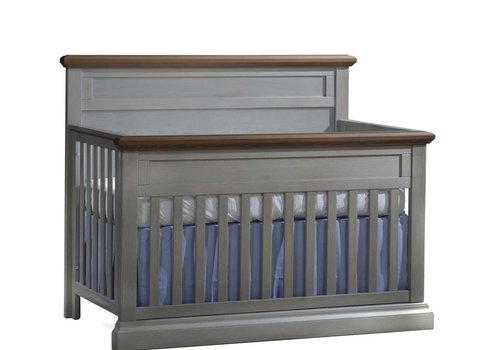 Natart Natart Cortina  4-in-1 Convertible Crib  (w/out rails) Grey Chalet- Cognac