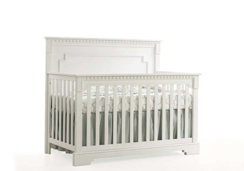 Natart Natart Ithaca 4-in-1 Convertible Crib with Wood Panel (w/out rails) In White