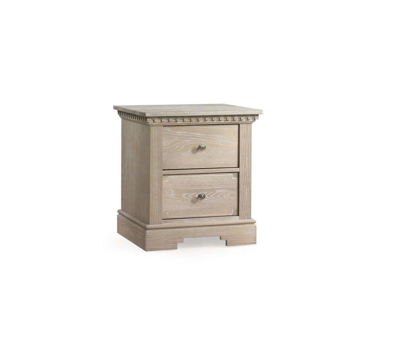 Natart Ithaca Nightstand In Sugar Cane