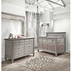 Natart Belmont Crib In Stone Grey, And Double Dresser