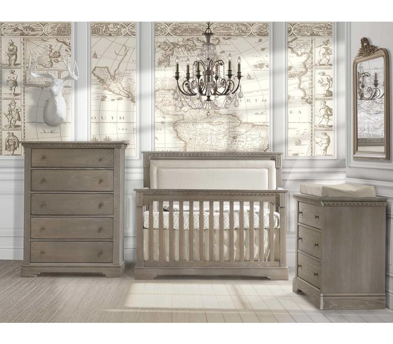 Natart Ithaca Convertible Crib In Owl With Double Dresser, And 5 Drawer Dresser
