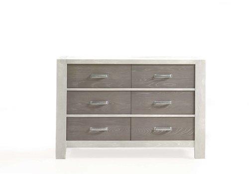 Natart Natart Rustico-Moderno Double Dresser In White-Owl