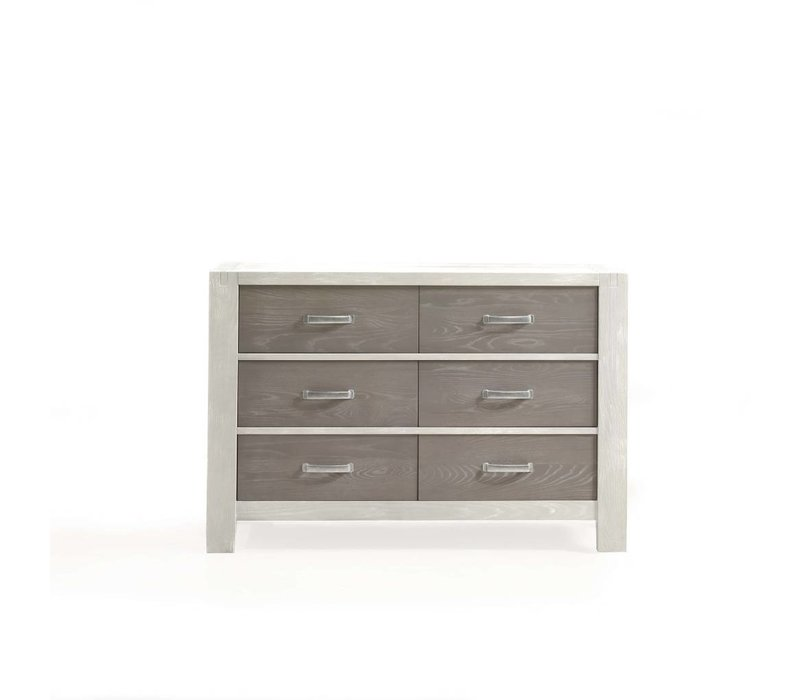 Natart Rustico-Moderno Double Dresser In White-Owl