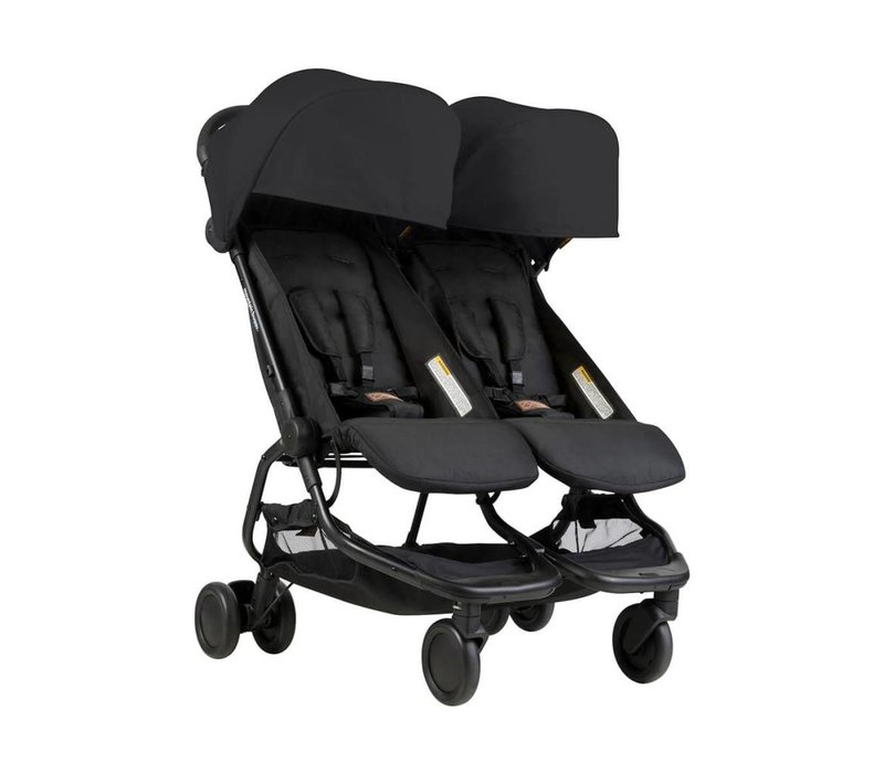 2018 Mountain Buggy Duo Nano Travel Double In Black