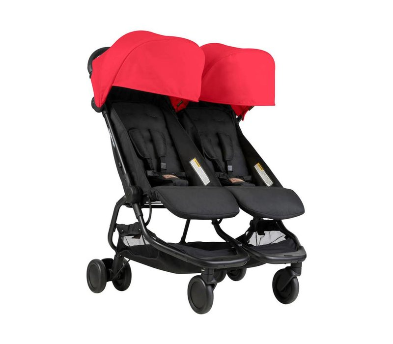 2018 Mountain Buggy Duo Nano Travel Double In Ruby