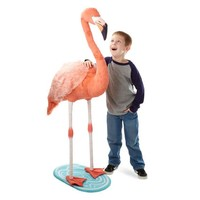 Melissa And Doug Lifelike Plush Flamingo Stuffed Animal