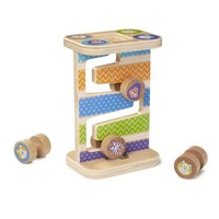 Melissa And Doug First Play Wooden Safari Zig-Zag Tower With 4 Rolling Pieces