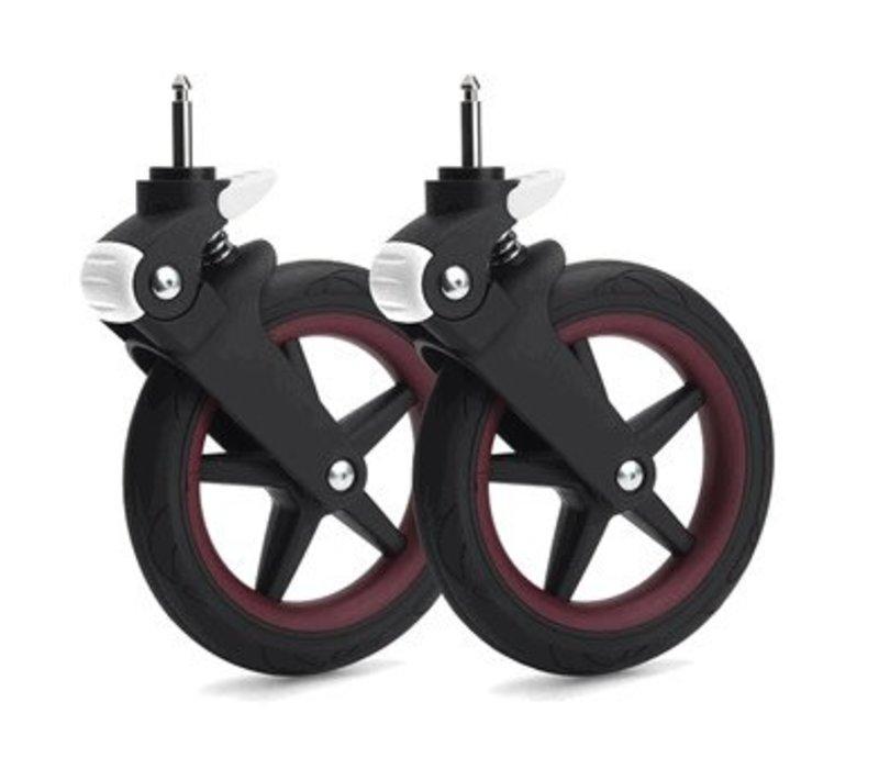 Bugaboo Fox Wheel Caps In Dark Red
