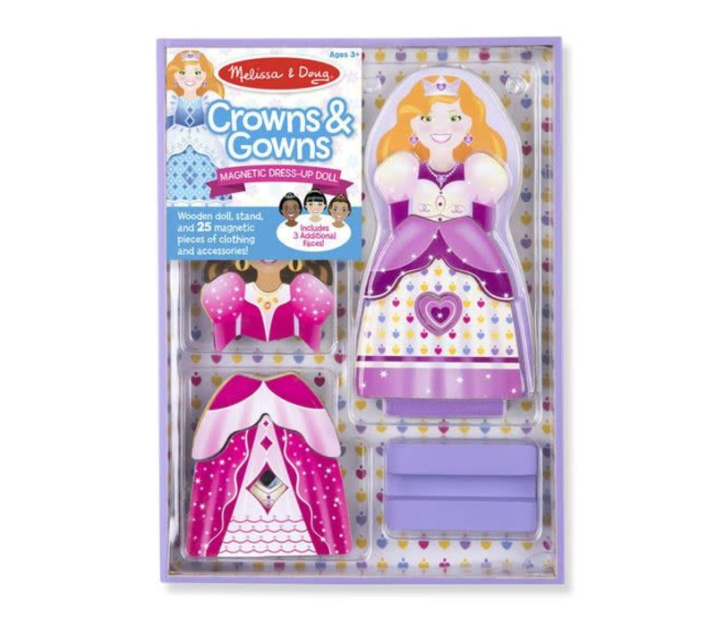 Melissa And Doug Magnetic Dress Up-Crowns And Gowns