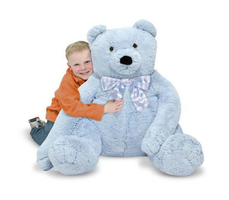 Melissa And Doug Plush Jumbo Blue Teddy Bear
