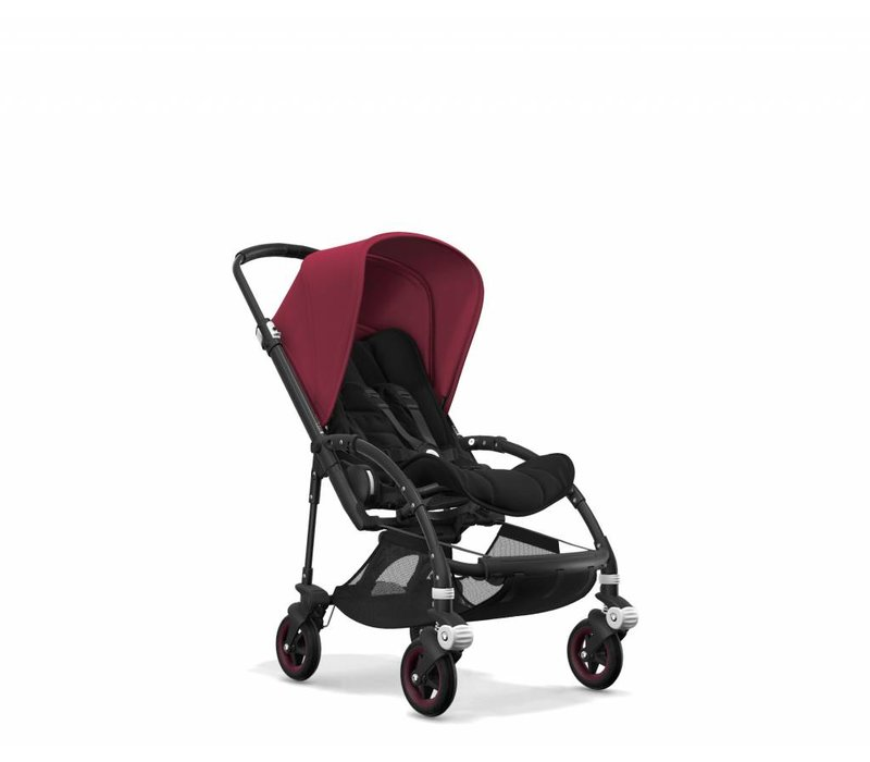Bugaboo Bee5 Complete Black Frame/ Black Seat and Sun Canopy In Ruby Red