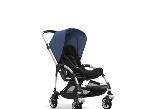 Bugaboo Bugaboo Bee5 Complete Stroller - Aluminum Frame/Black Seat/Sky Blue Canopy
