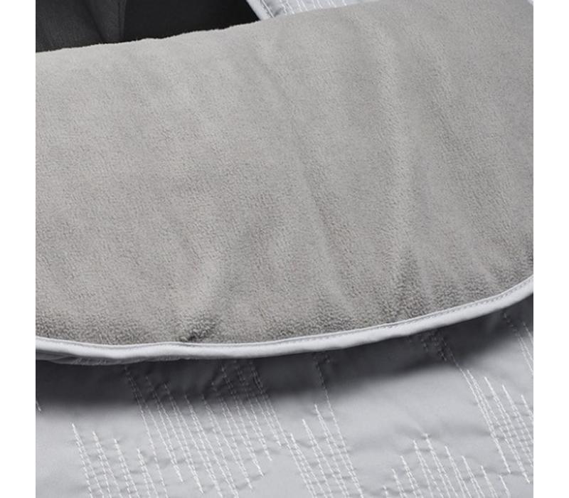 JJ Cole Car Seat  Cover In Grey Herringbone Stitch
