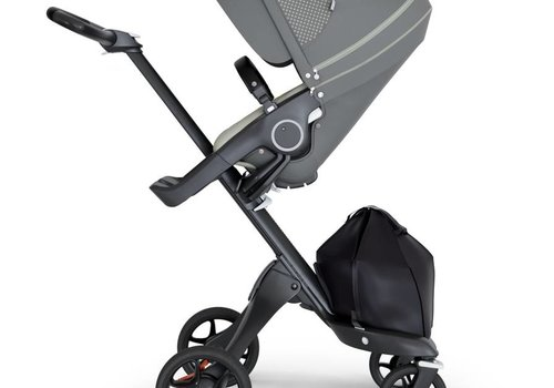 Stokke 2018 Stokke Xplory Black Chassis -Stroller Seat Athleisure Green and Black Handle