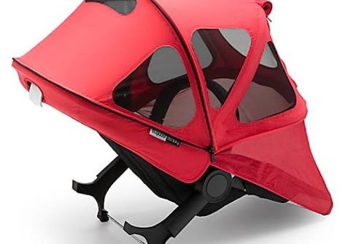 Bugaboo Bugaboo Donkey2 Breezy Sun Canopy In Neon Red