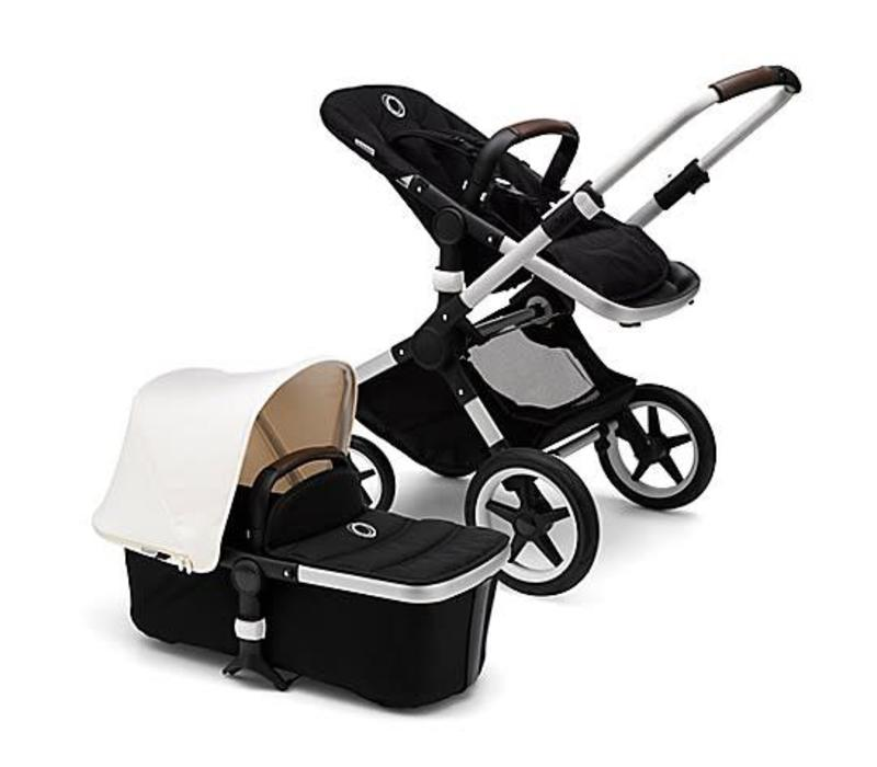 Bugaboo Fox complete Aluminum- Black Fresh White