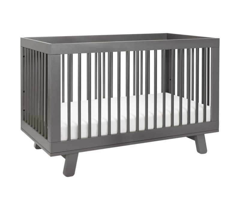 Baby Letto Hudson 3 In 1 Convertible Crib With Toddler Rail In Slate