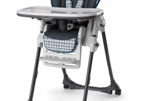 Chicco Chicco Polly Vinyl Highchair In Iceland Blue