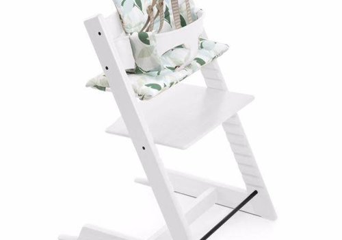Stokke Stokke Tripp Trapp Complete Highchair In White with Green Forest cushion
