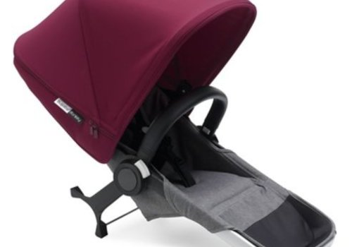 Bugaboo Bugaboo Donkey2 Duo Extension Set Base In Aluminum Grey-Red