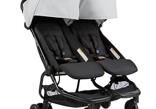 Mountain Buggy 2018 Mountain Buggy Duo Nano Travel Double In Silver
