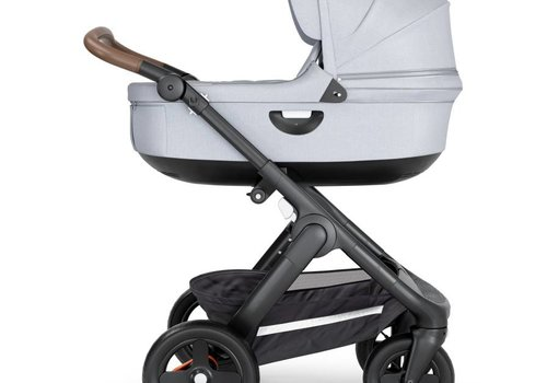 Stokke 2018 Stokke Crusi And Trailz Carrycot In Grey Melange